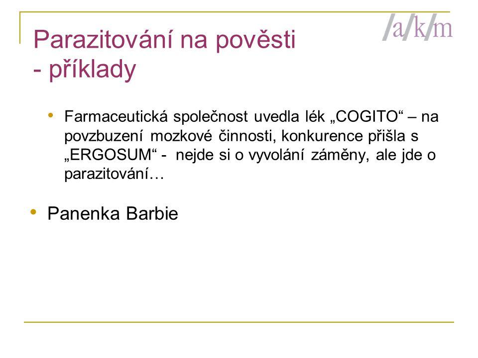 Parazitování na pověsti - příklady