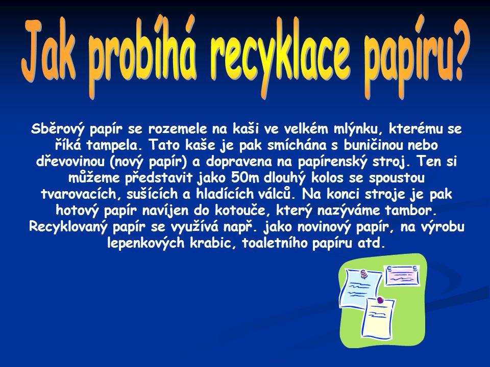 Jak probíhá recyklace papíru