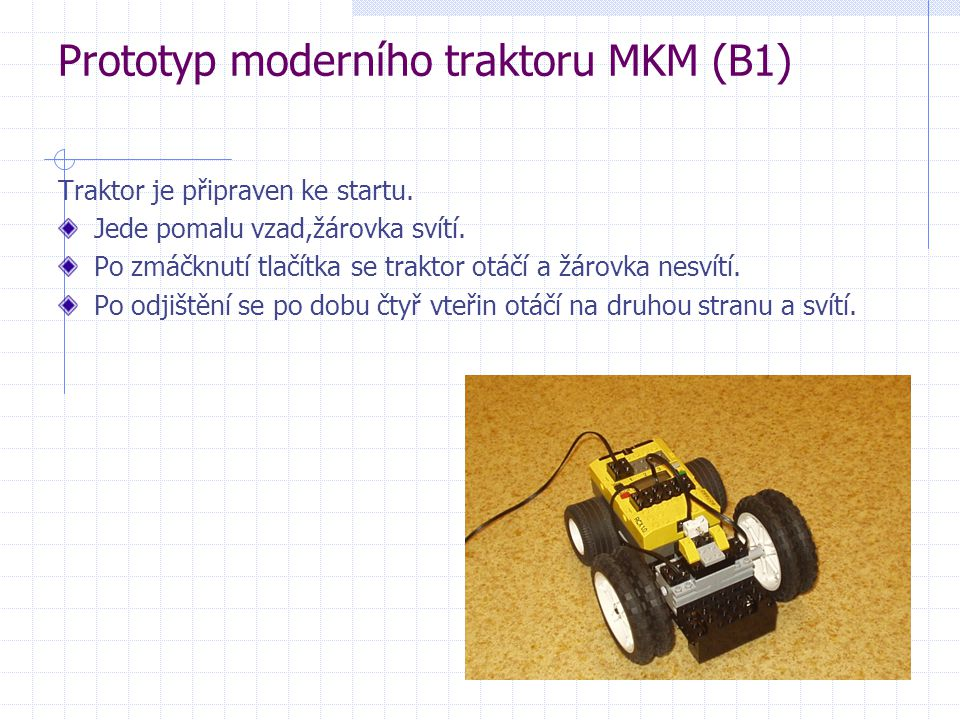 Prototyp moderního traktoru MKM (B1)