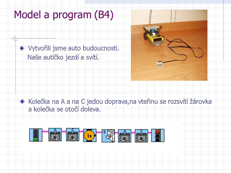 Model a program (B4) Vytvořili jsme auto budoucnosti.