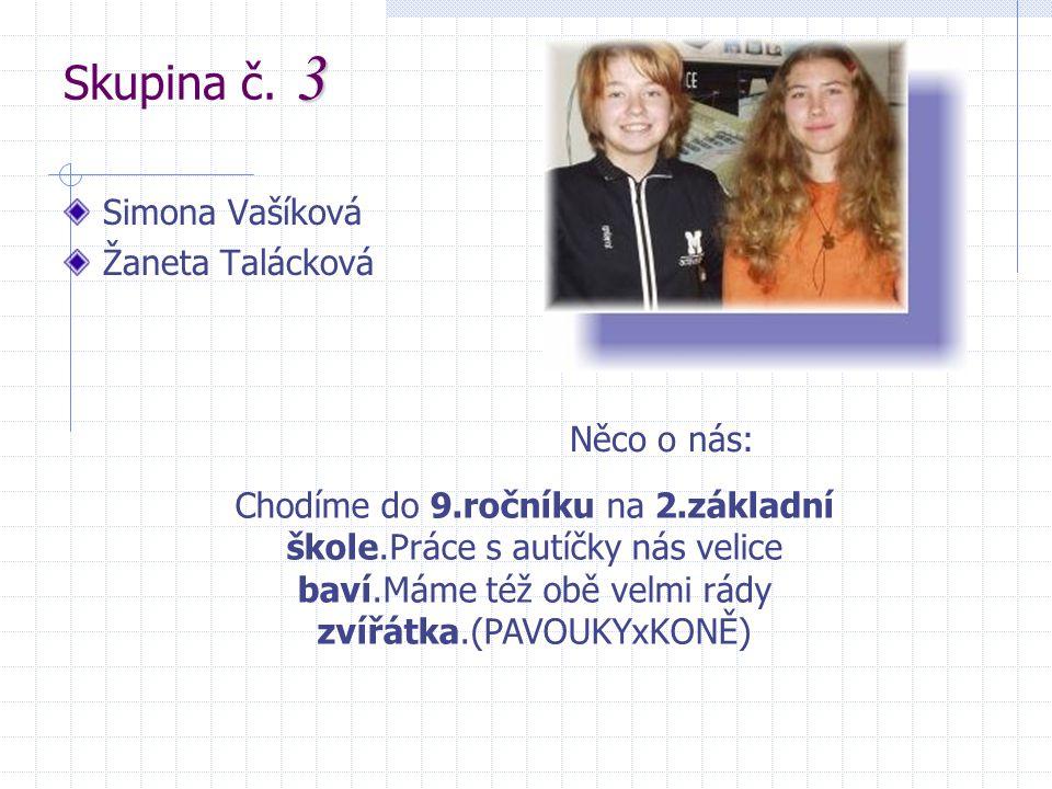 Skupina č. 3 Simona Vašíková Žaneta Talácková Něco o nás: