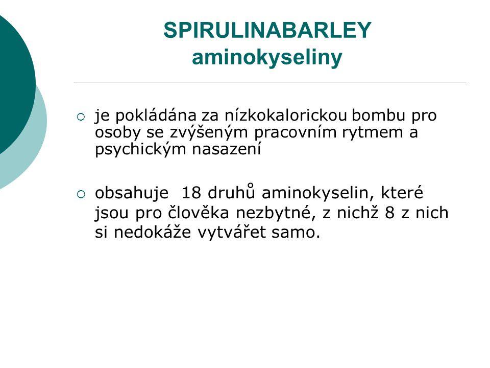 SPIRULINABARLEY aminokyseliny