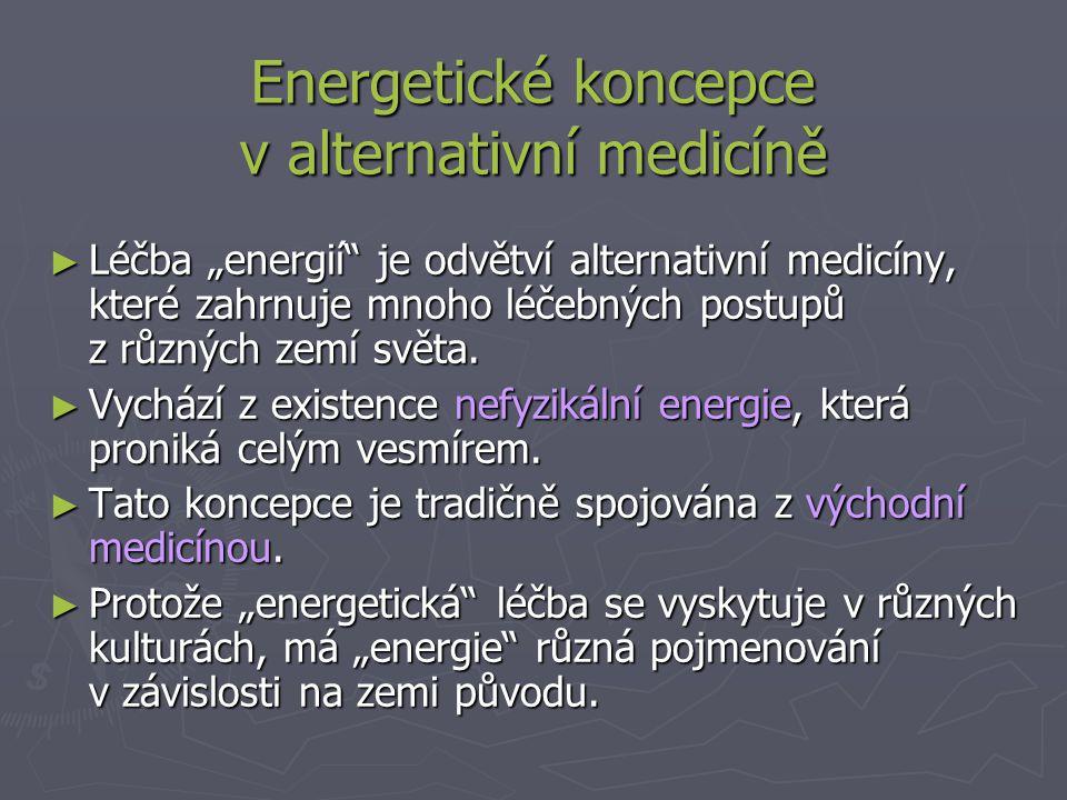 Energetické koncepce v alternativní medicíně