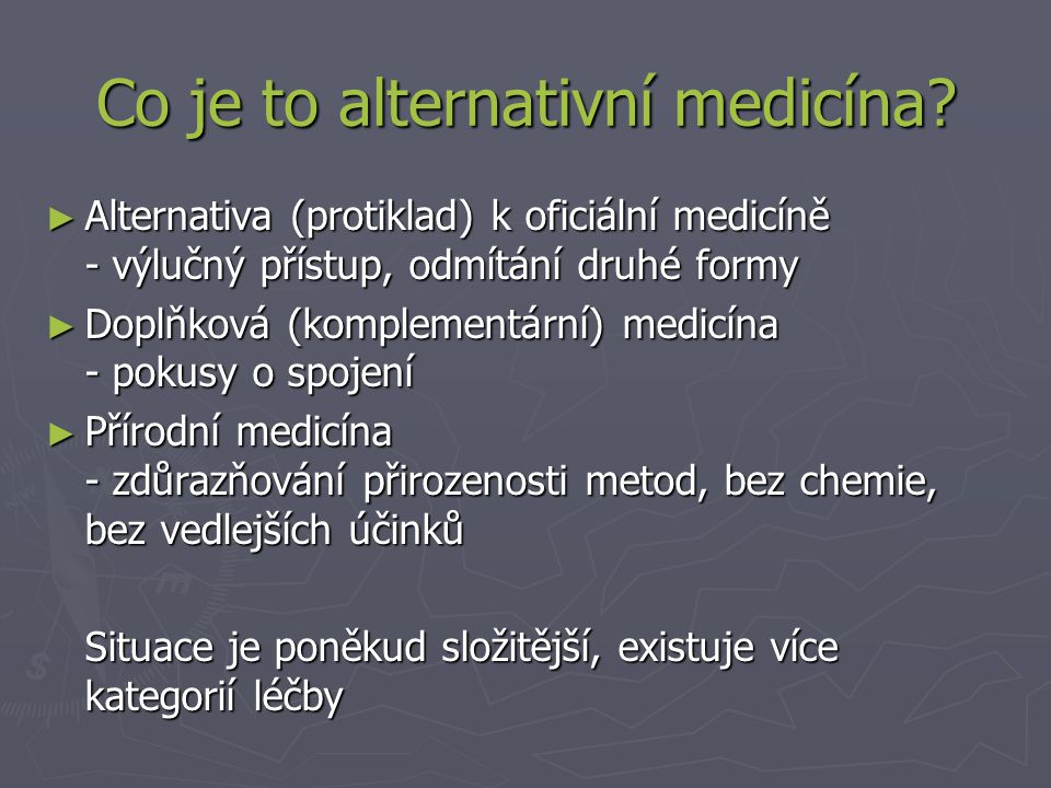 Co je to alternativní medicína