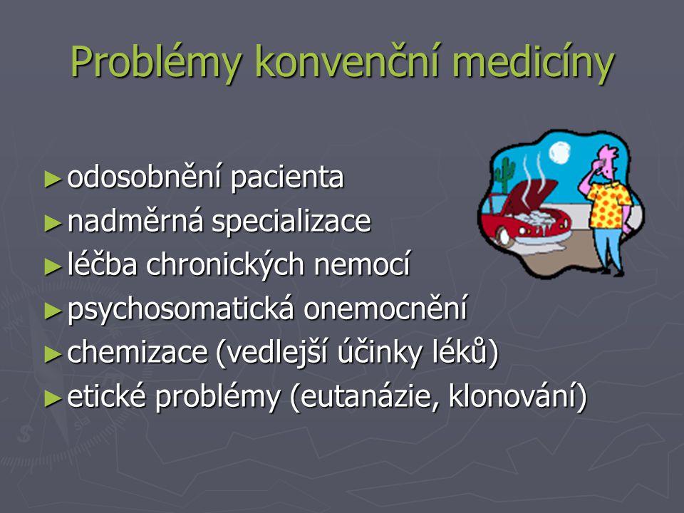 Problémy konvenční medicíny