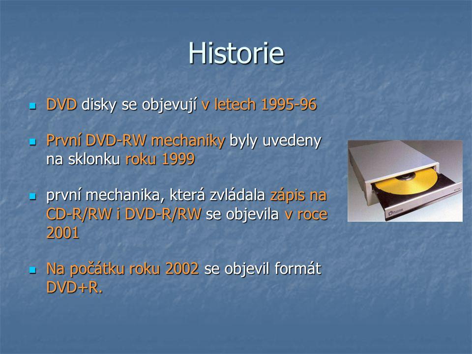 Historie DVD disky se objevují v letech 1995-96