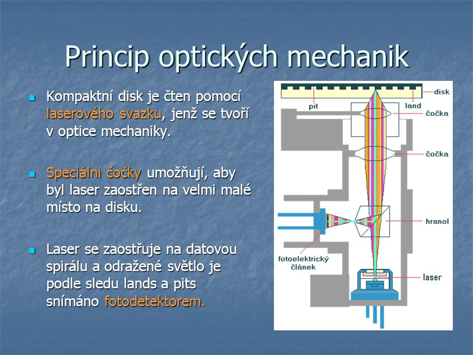 Princip optických mechanik