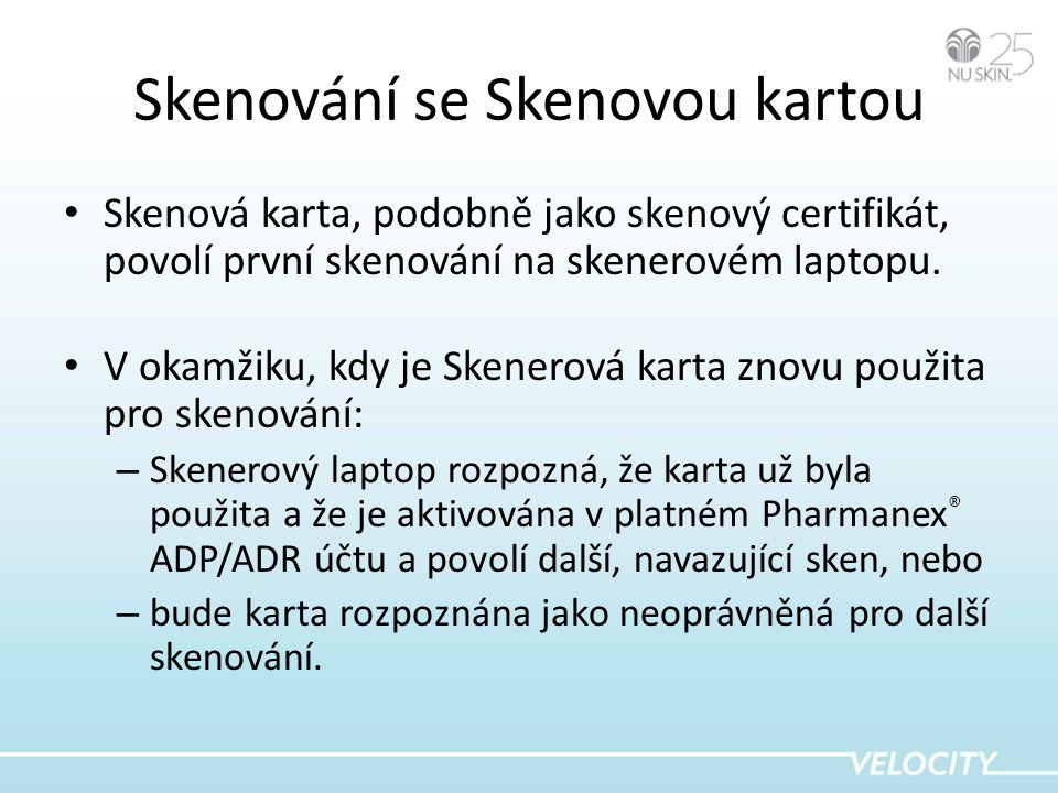 Skenování se Skenovou kartou