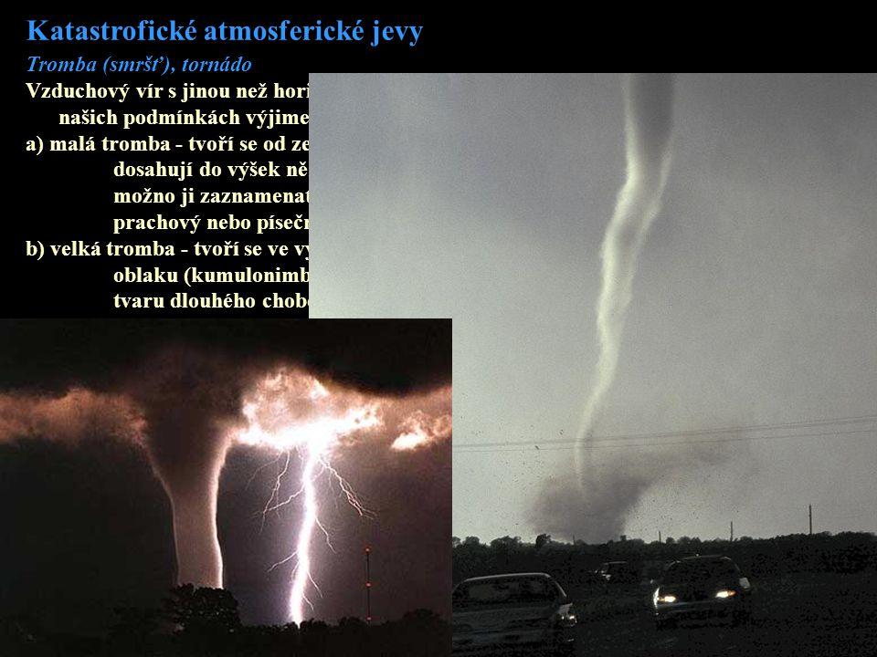Katastrofické atmosferické jevy