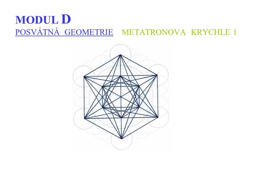 MODUL D POSVÁTNÁ GEOMETRIE METATRONOVA KRYCHLE 1