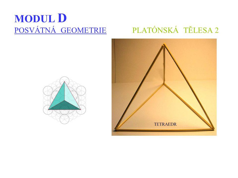 MODUL D POSVÁTNÁ GEOMETRIE PLATÓNSKÁ TĚLESA 2