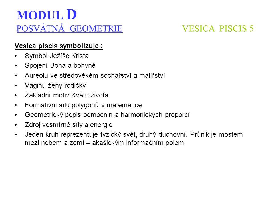 MODUL D POSVÁTNÁ GEOMETRIE VESICA PISCIS 5