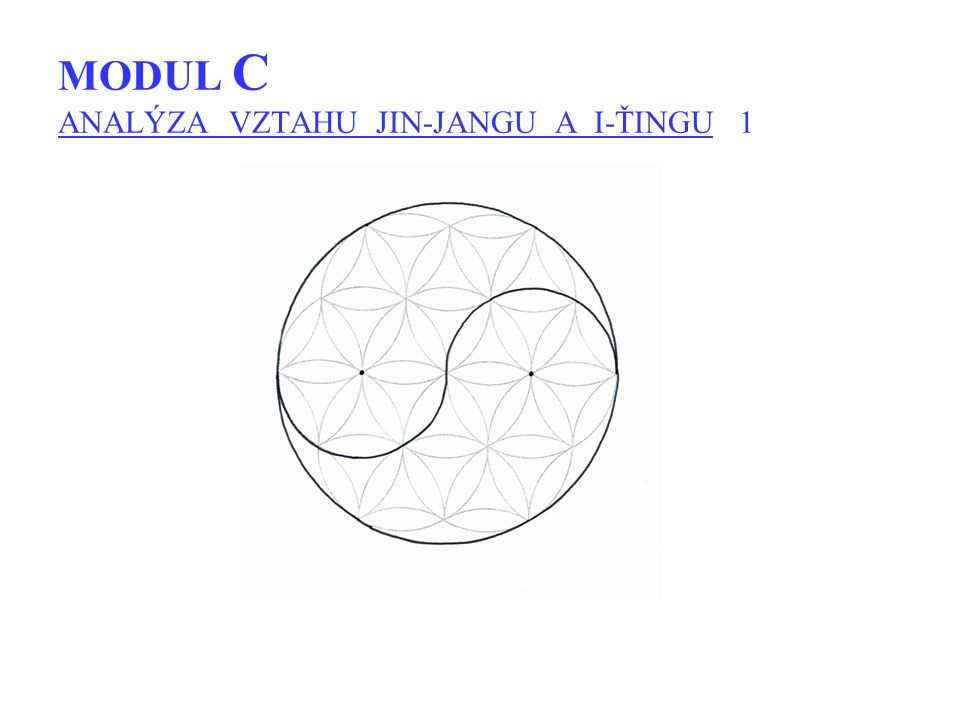 MODUL C ANALÝZA VZTAHU JIN-JANGU A I-ŤINGU 1