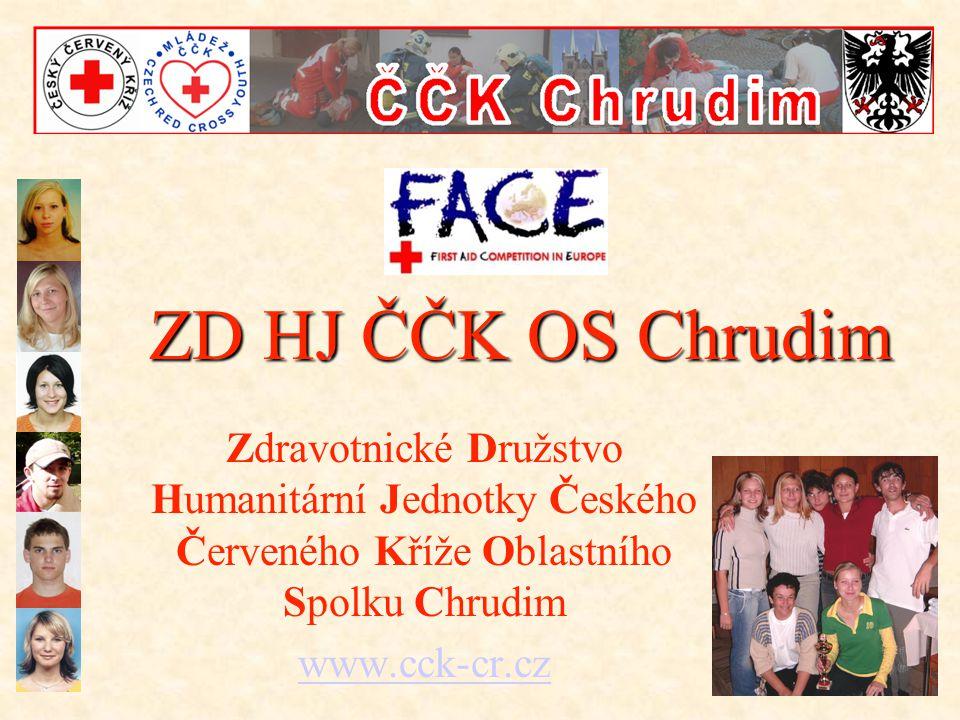 ZD HJ ČČK OS Chrudim Zdravotnické Družstvo Humanitární Jednotky Českého Červeného Kříže Oblastního Spolku Chrudim.