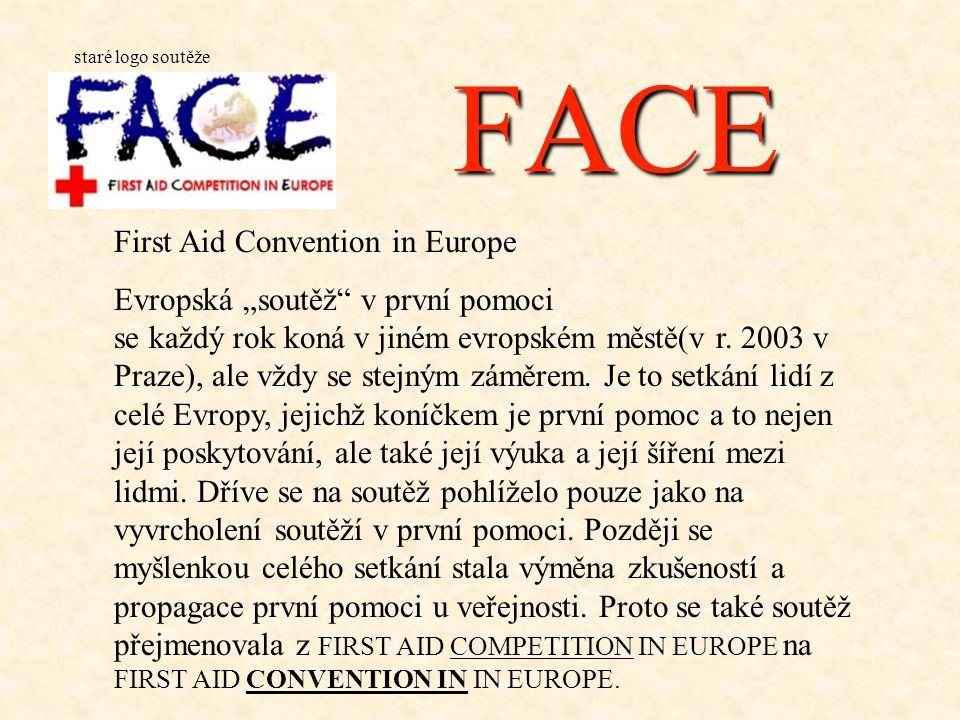 FACE First Aid Convention in Europe