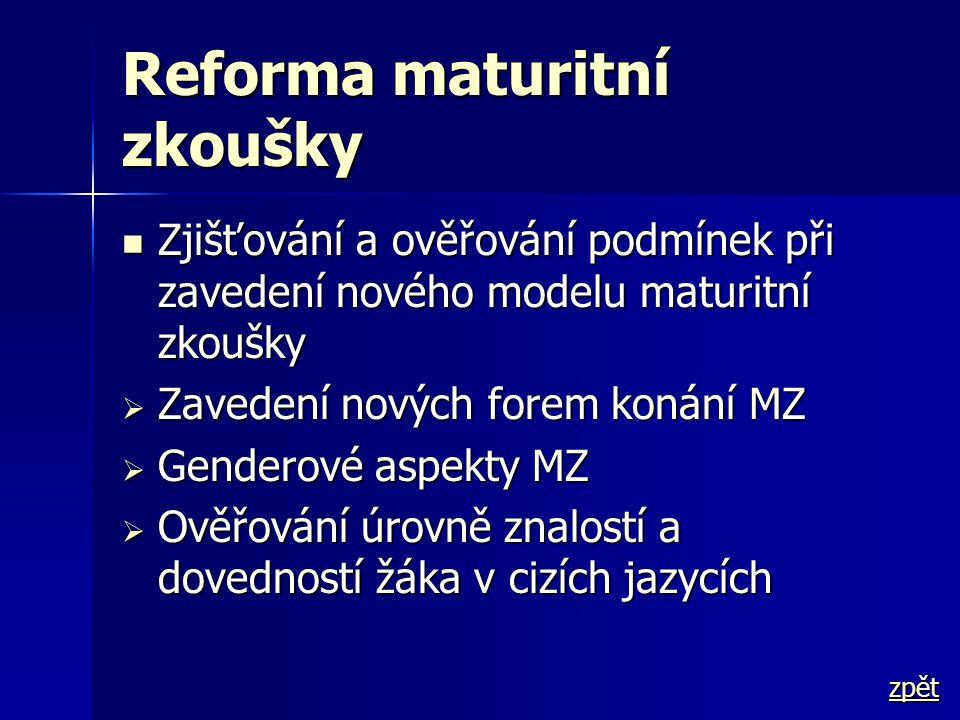 Reforma maturitní zkoušky