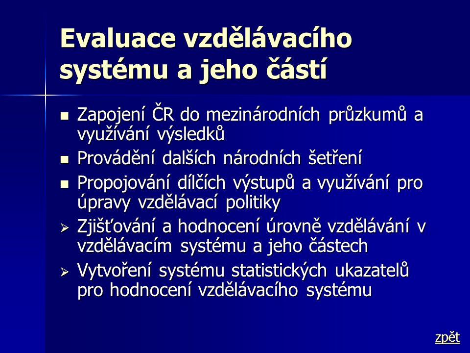 Evaluace vzdělávacího systému a jeho částí