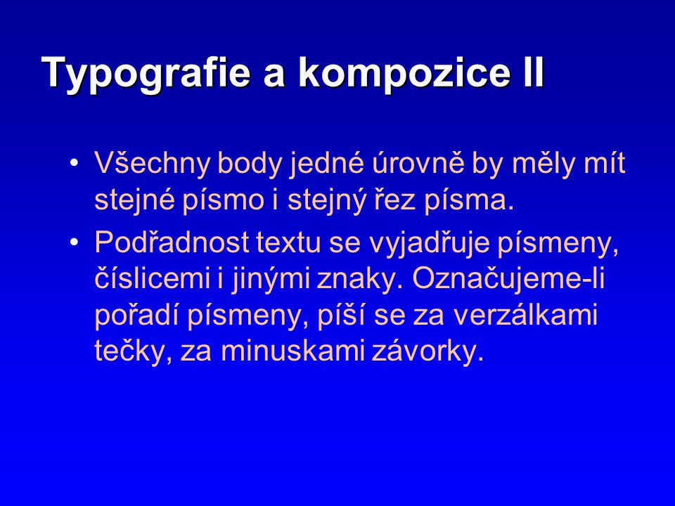 Typografie a kompozice II