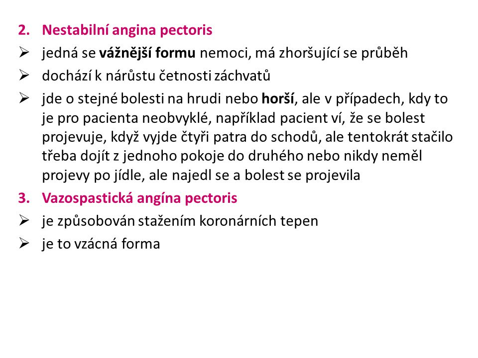 Nestabilní angina pectoris