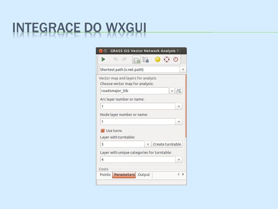 Integrace do wxgui