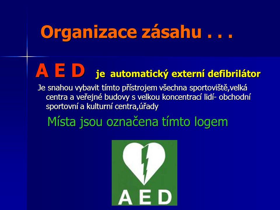A E D je automatický externí defibrilátor