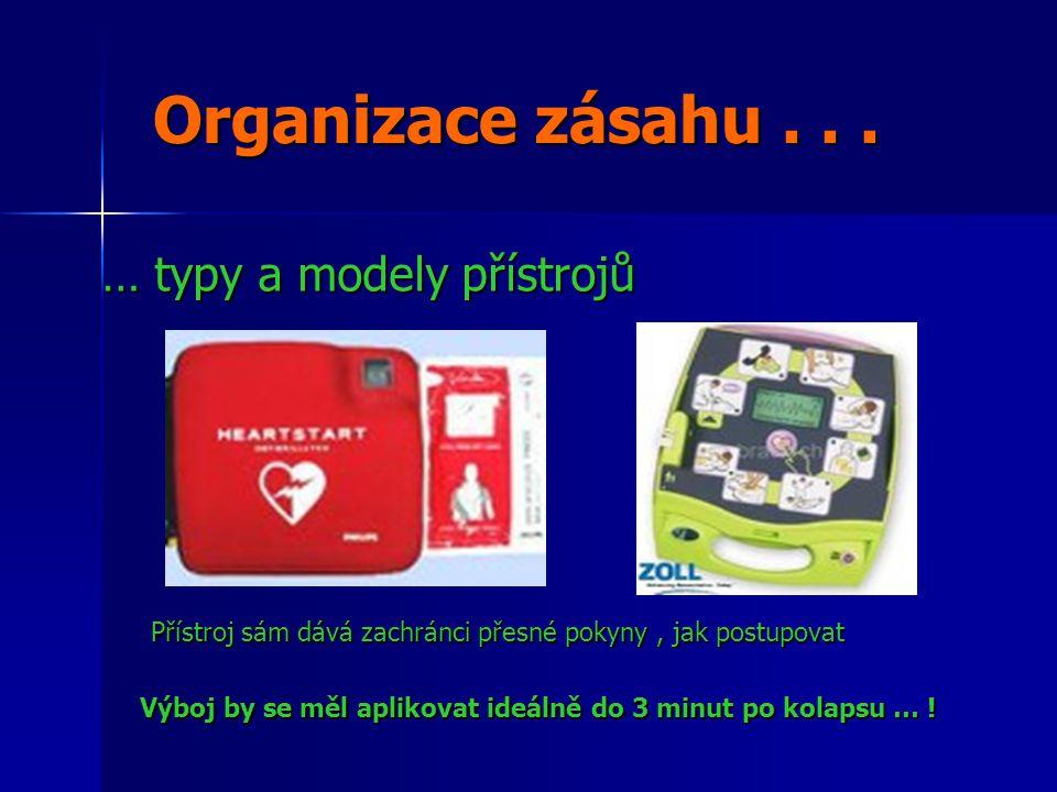 Organizace zásahu . . . … typy a modely přístrojů