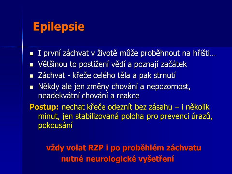 Epilepsie I první záchvat v životě může proběhnout na hřišti…