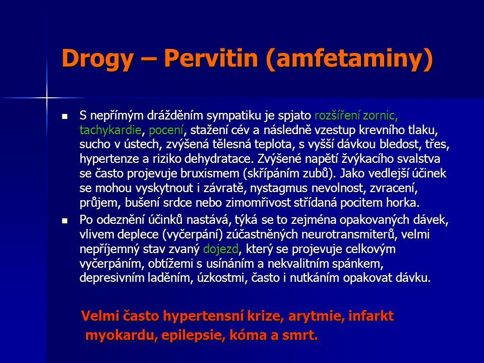 Drogy – Pervitin (amfetaminy)