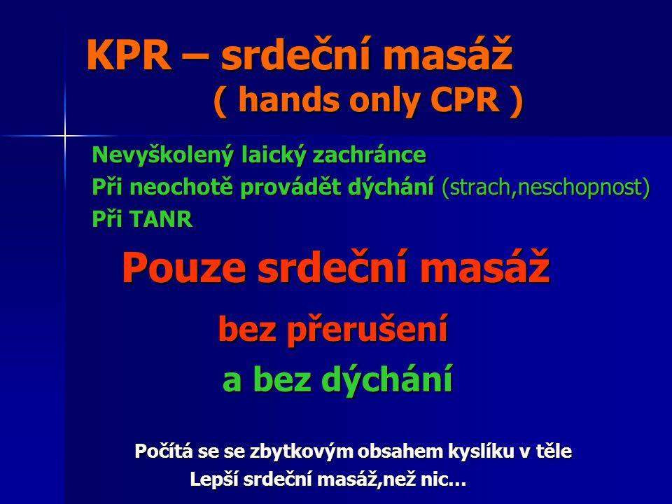KPR – srdeční masáž ( hands only CPR )
