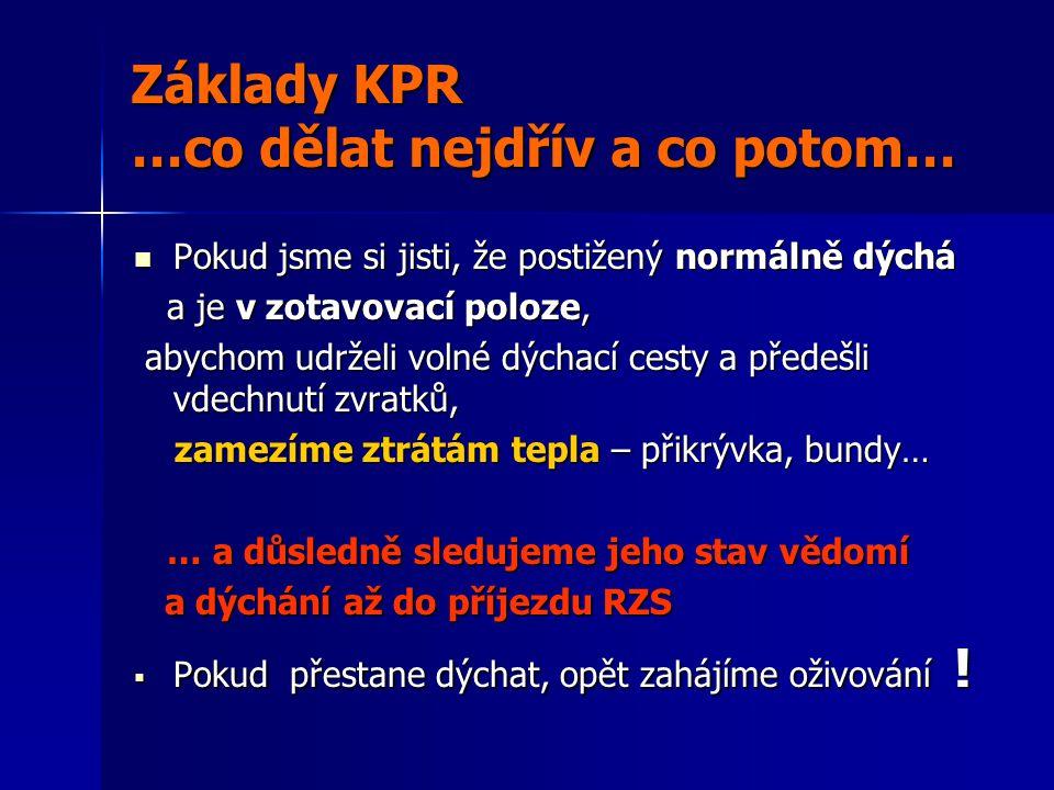 Základy KPR …co dělat nejdřív a co potom…