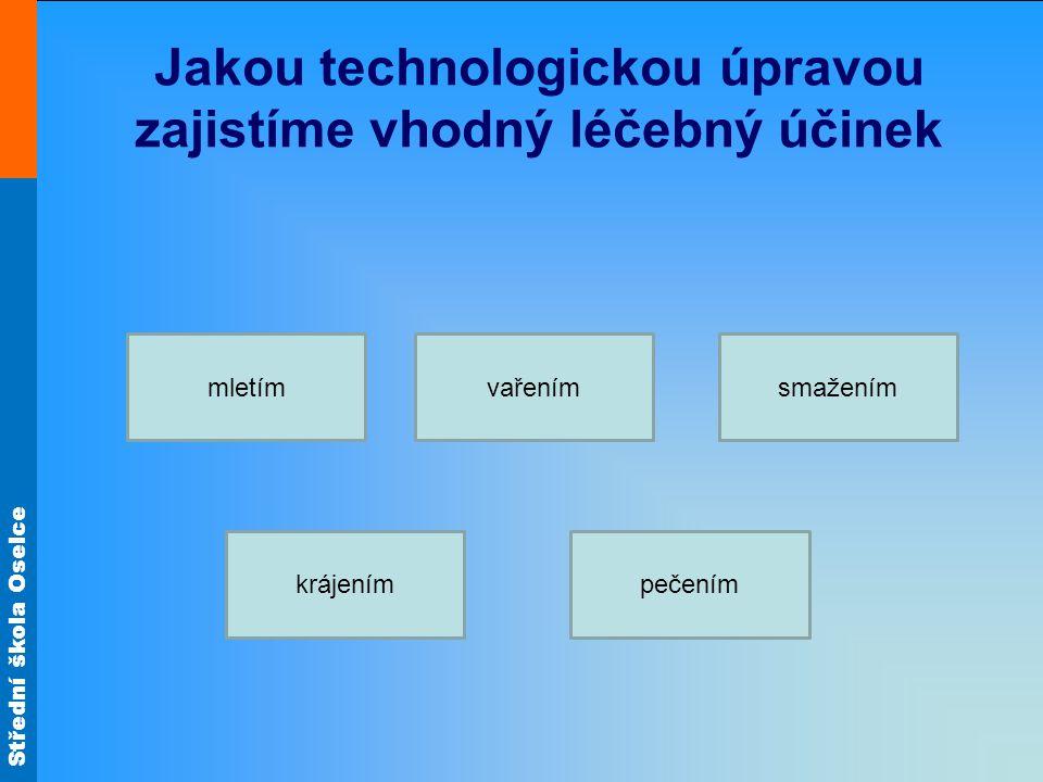 Jakou technologickou úpravou zajistíme vhodný léčebný účinek