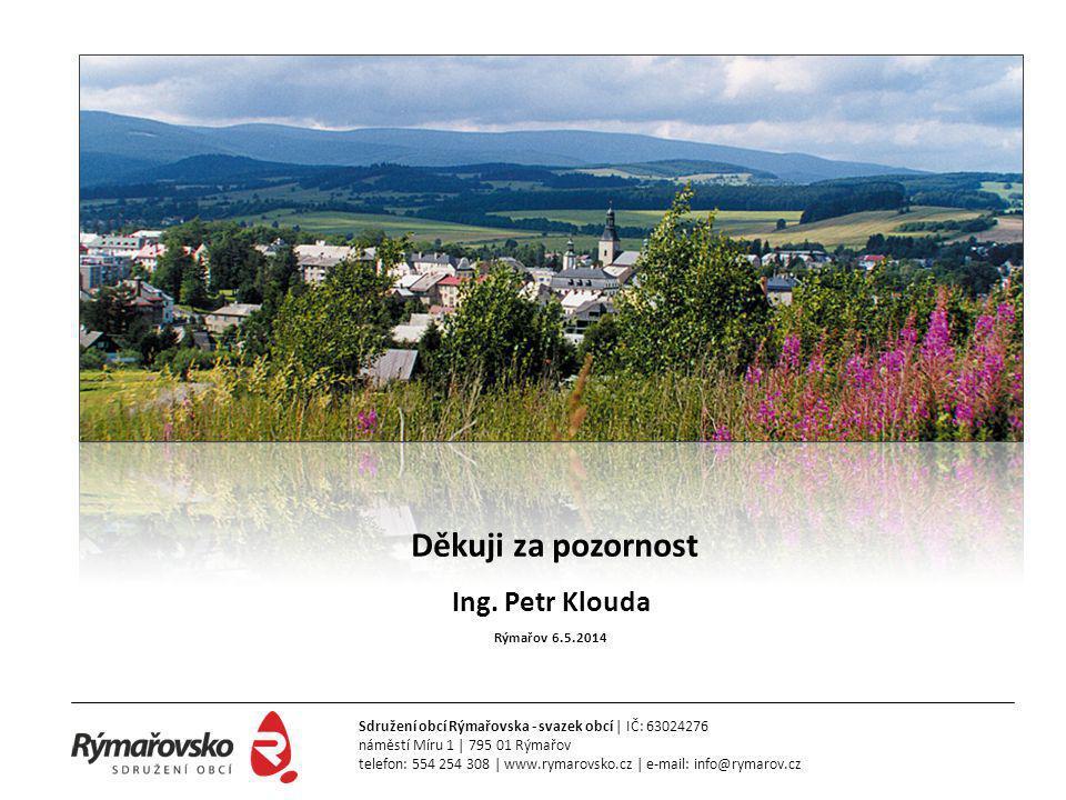 Děkuji za pozornost Ing. Petr Klouda Rýmařov 6.5.2014