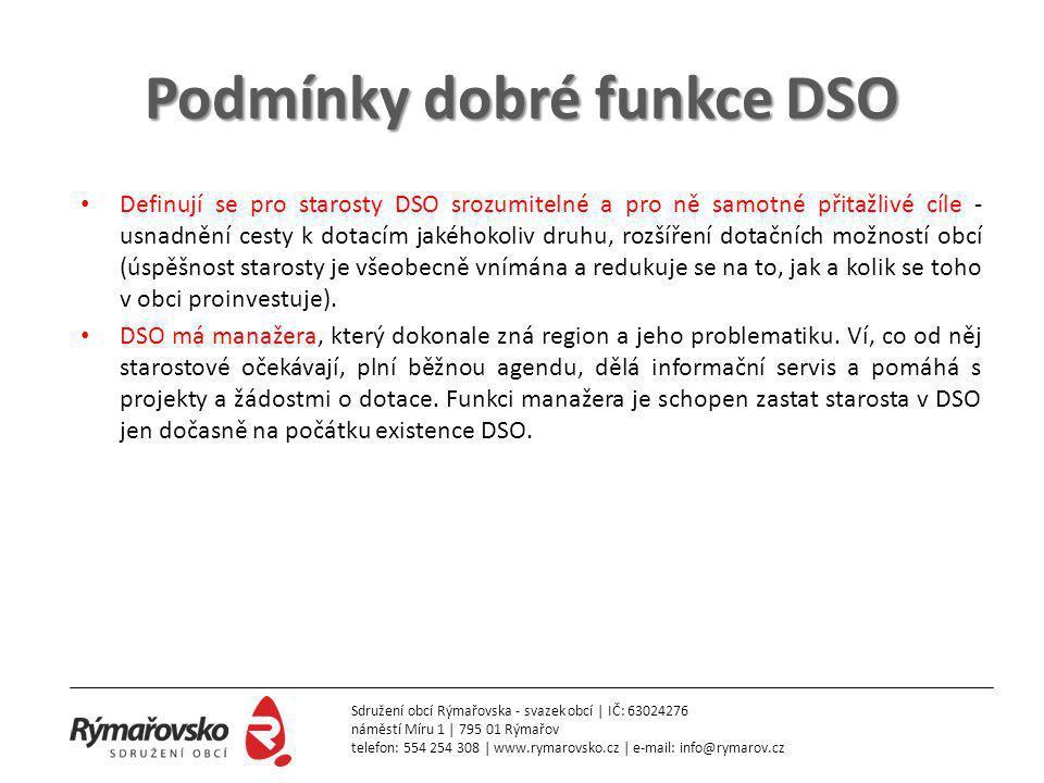 Podmínky dobré funkce DSO