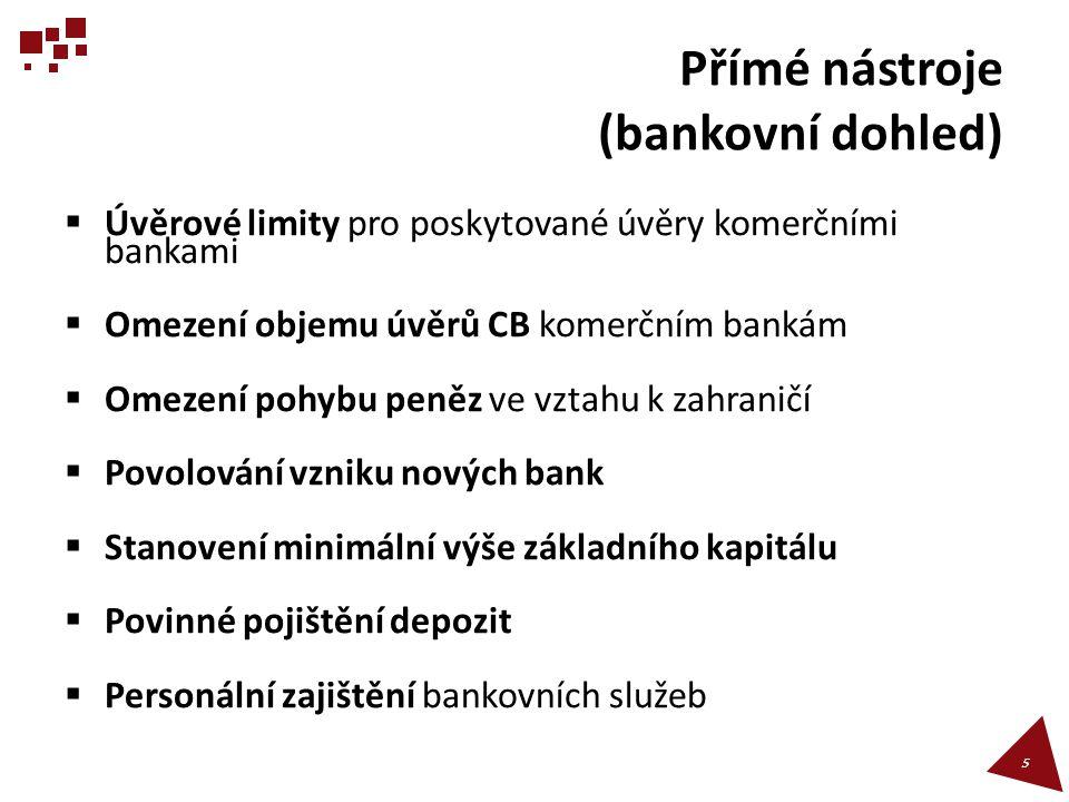Přímé nástroje (bankovní dohled)