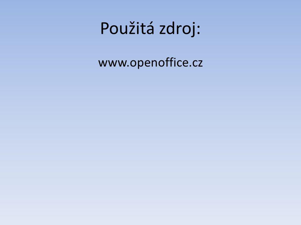 Použitá zdroj: www.openoffice.cz