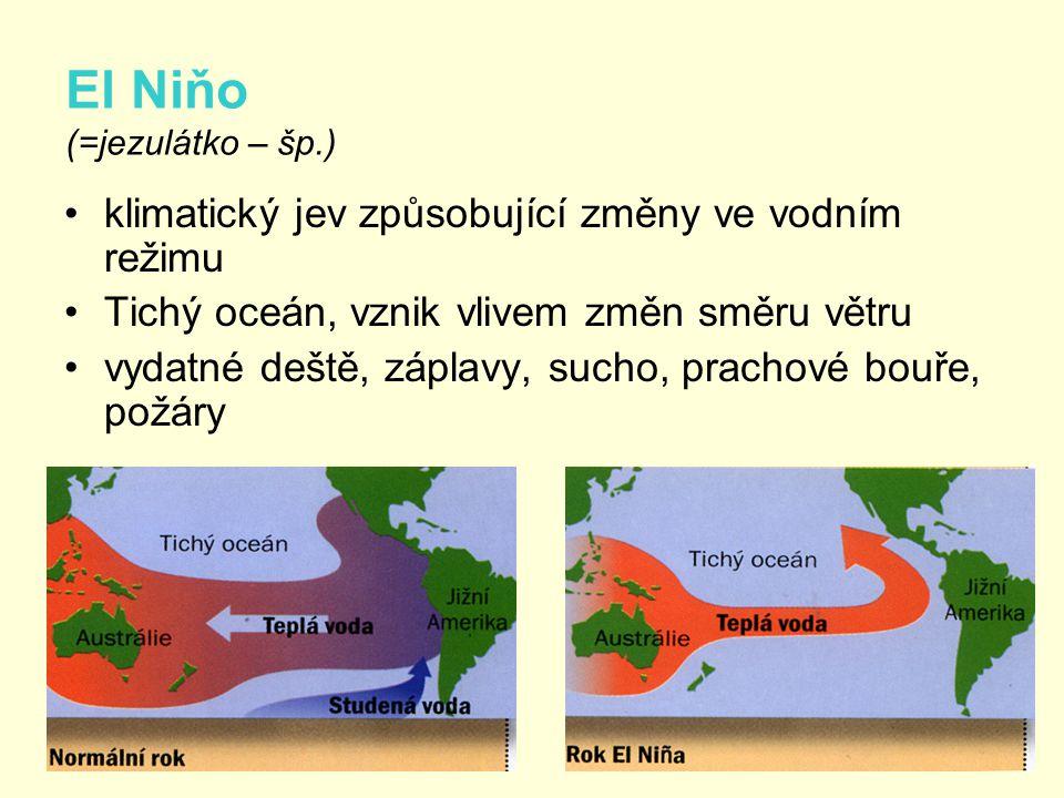El Niňo (=jezulátko – šp.)