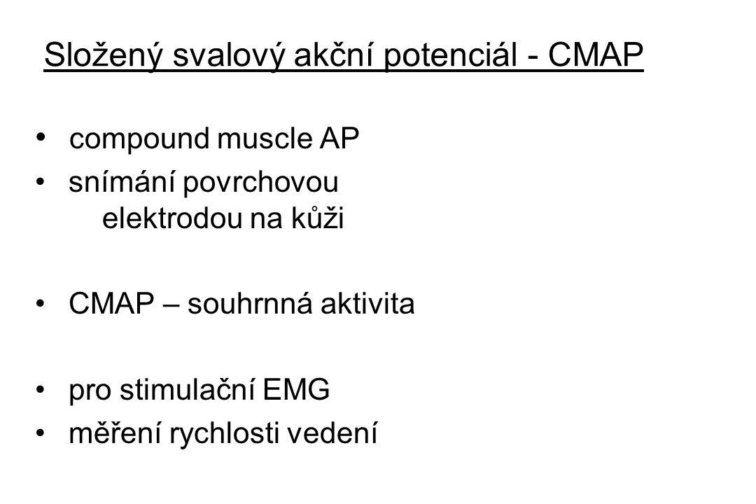 Složený svalový akční potenciál - CMAP