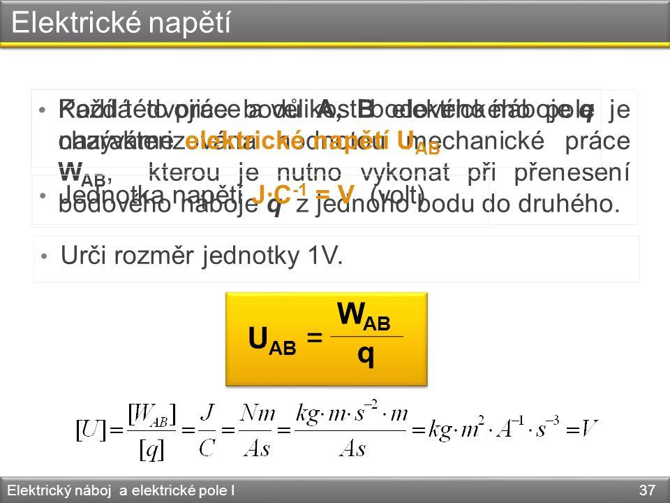 Elektrické napětí WAB UAB = q