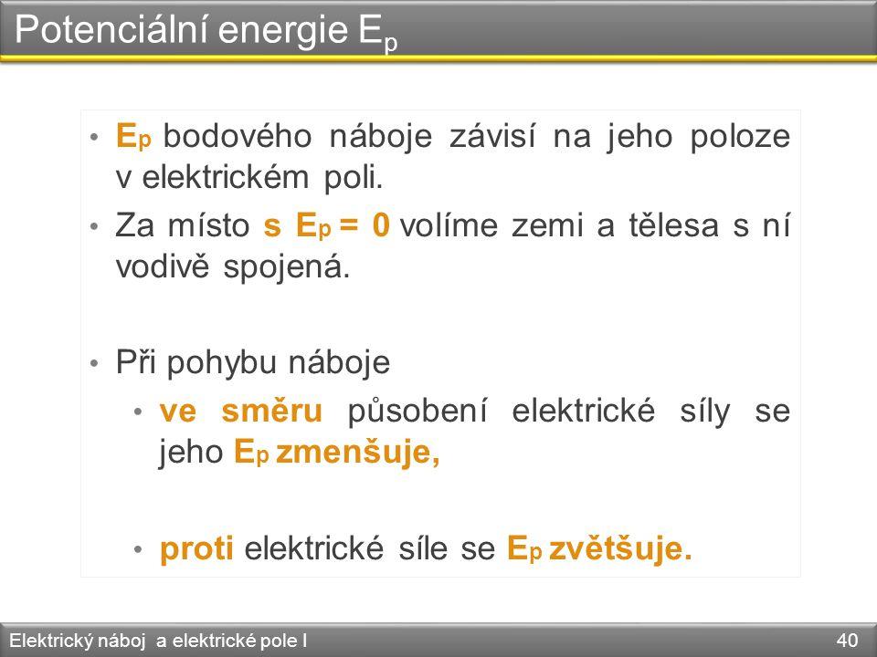 Potenciální energie Ep
