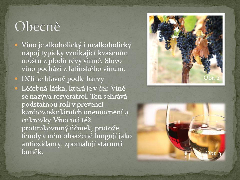 Obecně Víno je alkoholický i nealkoholický nápoj typicky vznikající kvašením moštu z plodů révy vinné. Slovo víno pochází z latinského vinum.