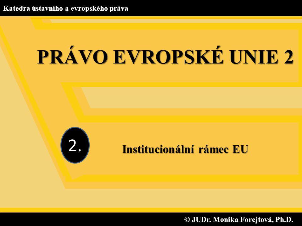 Institucionální rámec EU © JUDr. Monika Forejtová, Ph.D.