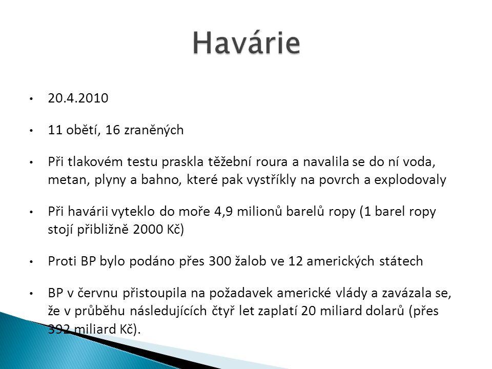 Havárie 20.4.2010 11 obětí, 16 zraněných