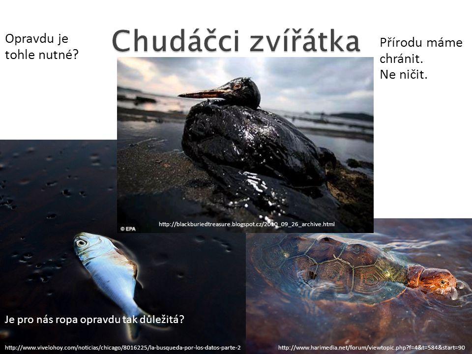 Chudáčci zvířátka Opravdu je tohle nutné Přírodu máme chránit.