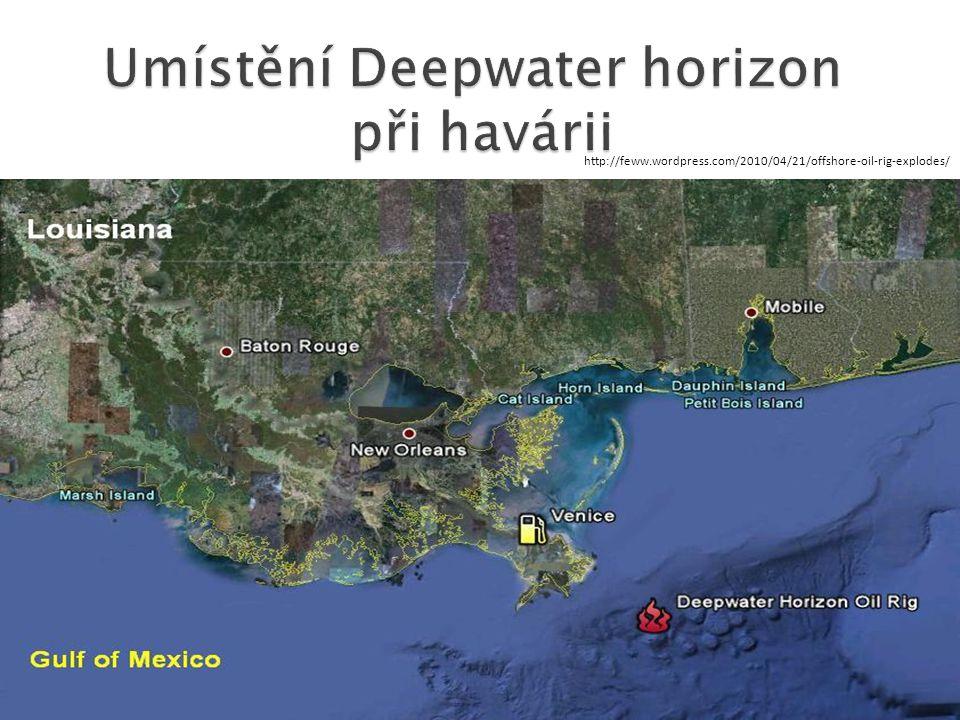 Umístění Deepwater horizon při havárii