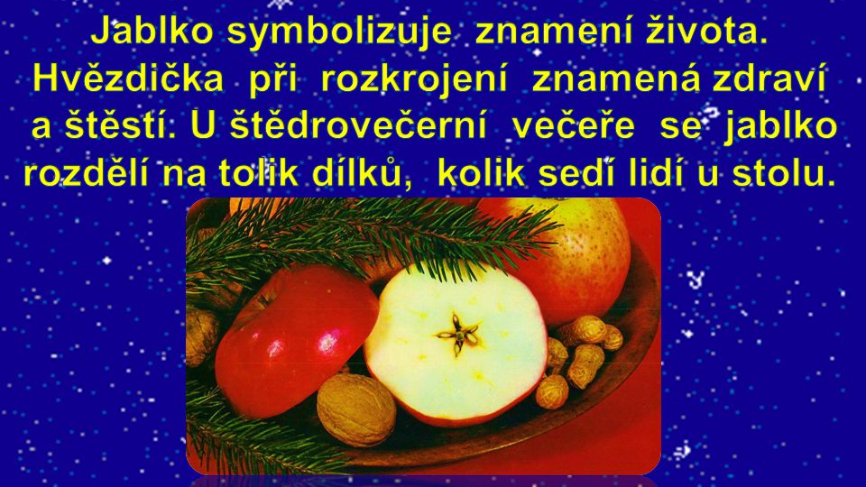 Jablko symbolizuje znamení života
