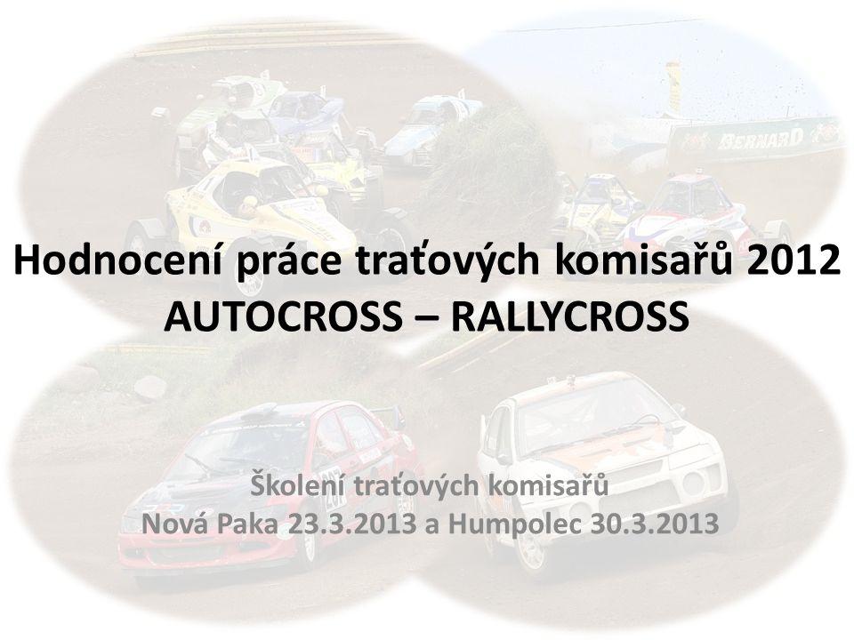 Hodnocení práce traťových komisařů 2012 AUTOCROSS – RALLYCROSS
