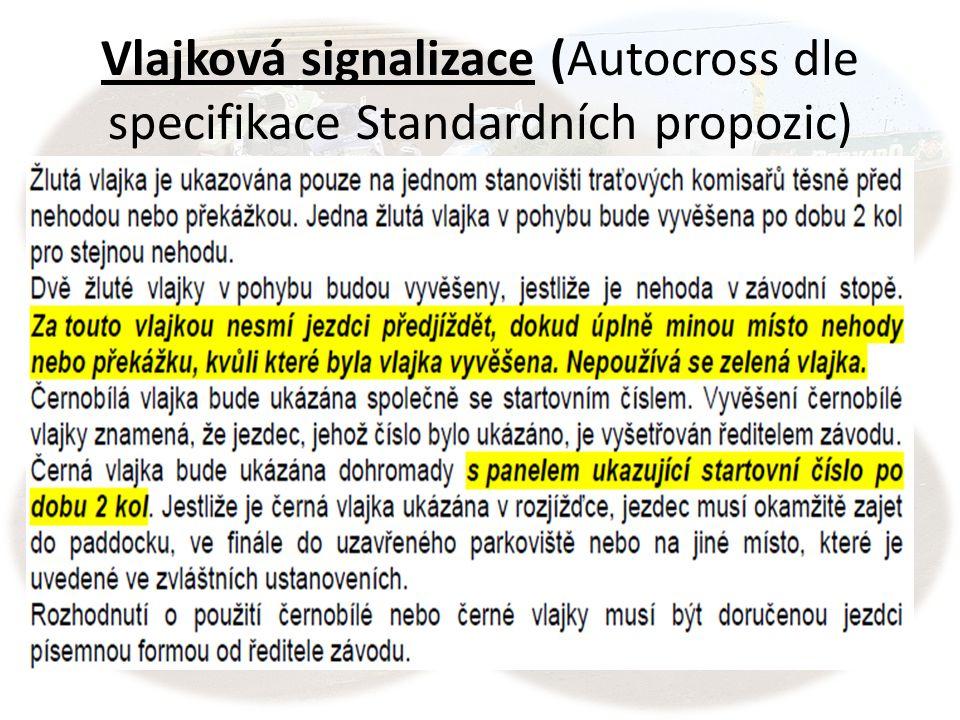 Vlajková signalizace (Autocross dle specifikace Standardních propozic)