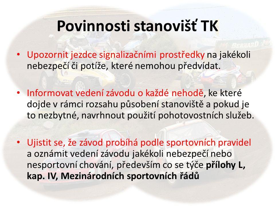 Povinnosti stanovišť TK