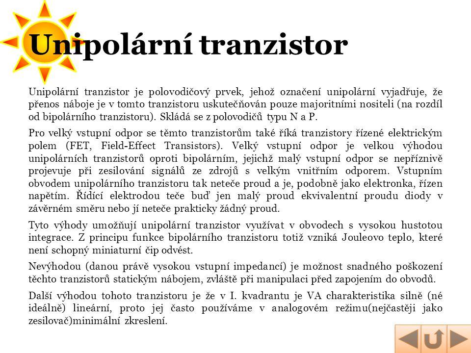 Unipolární tranzistor