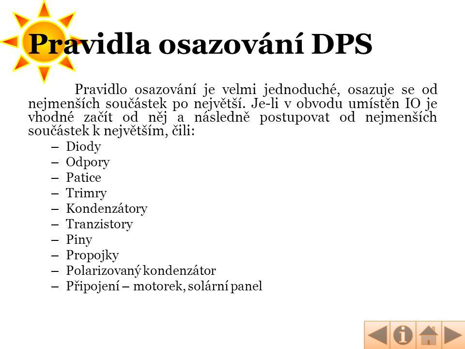 Pravidla osazování DPS